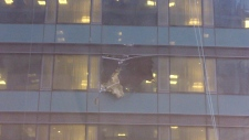 Trump Tower window breaks and falls
