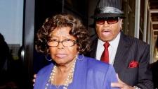 Michael Jackson's parents, Katherine and Joe Jackson leave a Los Angeles courthouse on June 14, 2010. (AP / Nick Ut)