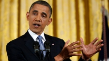 Barack Obama addresses media on Petraeus