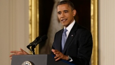 Barack Obama addresses media on fiscal cliff