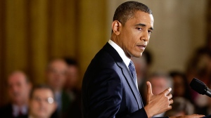 President Barack Obama gestures as he answers a question during a news conference in the East Room of the White House in Washington, Wednesday, Nov. 14, 2012. (AP Photo/Charles Dharapak)