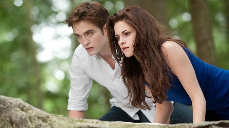 Kristen Stewart and Robert Pattinson in a scene from eOne Films Canada's 'Breaking Dawn - Part 2'