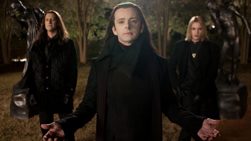 Christopher Heyerdahl, Michael Sheen, and Jamie Campbell Bower in a scene from eOne Films Canada's 'Breaking Dawn - Part 2'