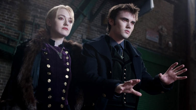 Dakota Fanning and Cameron Bright in a scene from eOne Films Canada's 'Breaking Dawn - Part 2'