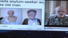 A YouTube video shows a silicone mask that may have been used as a disguise by a young asylum-seeker on a flight from Hong Kong to Vancouver. Nov. 6, 2010. (CTV)