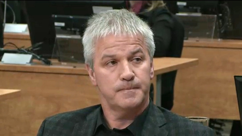 Businessman Martin Carrier testifies at the Charbonneau inquiry looking into corruption in the Quebec construction industry on Nov. 14, 2012, in Montreal. (Ryan Remiorz/THE CANADIAN PRESS)