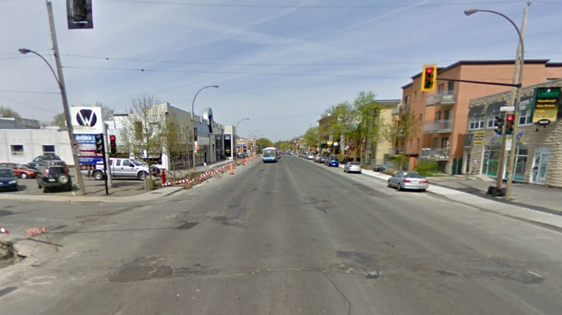 The man was shot dead near this intersection of St. Laurent and Sauriol at around 2:25 p.m. Thursday (Image: Google Street View)