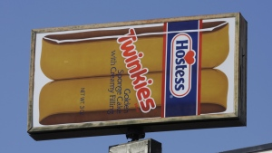 A Hostess Twinkies sign is shown at the plant in Ogden, Utah. (AP / Rick Bowmer)