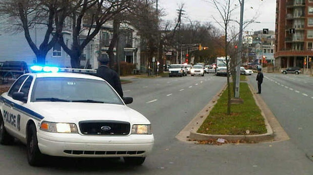 A section of Robie Street was shut down for most of the day as police remained on the scene.
