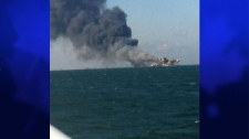 Oil rig fire Louisiana, gulf