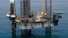 The Adriatic VI Rig at the Okoro oilfield off the Nigerian coast is seen in this image courtesy Afren plc.