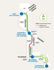 North LRT map