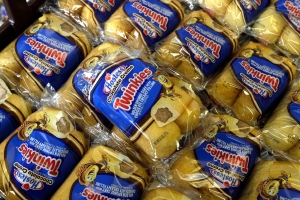 Twinkies baked goods are displayed for sale at the Hostess Brands' bakery in Denver, Colo. on Friday, Nov. 16, 2012. (AP / Brennan Linsley)
