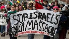 Anti-Israeli attack protest in Ottawa