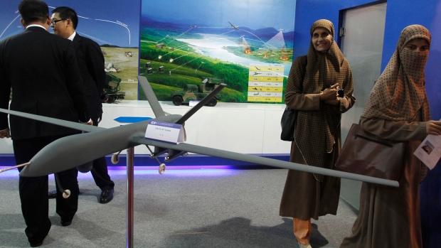 Pakistani drone in Karachi on Nov. 15, 2012