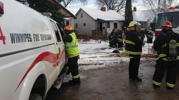 Fire crews battled a blaze in the 100 block of Renfrew Street Saturday afternoon.
