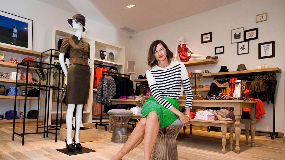 J. Crew president and creative director Jenna Lyons poses for a photo at Canada's first J.Crew store at the Yorkdale Shopping Centre in Toronto on August 17, 2011. (Aaron Vincent Elkaim / THE CANADIAN PRESS)