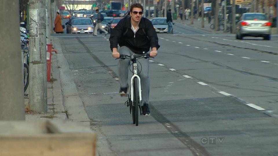 CTV Toronto: Jarvis street bike lanes removed