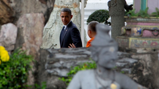 obama begins 3day 3country southeast trip in thailand