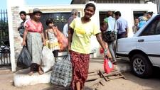 Myanmar prisoners released on Nov. 15, 2012.