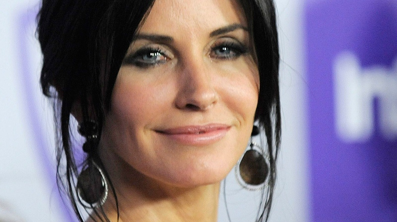 Courteney Cox arrives to the InStyle/Warner Bros. party following the 67th Annual Golden Globe Awards on Sunday, Jan. 17, 2010, in Beverly Hills, Calif. (AP / Chris Pizzello)