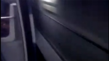 This frame taken from a Youtube video shows a metro car running on the green line with the doors open. (Nov. 9, 2010)