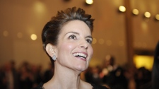 Tina Fey arrives at the Kennedy Center where she was awarded the Mark Twain Prize for American Humor in Washington, Tuesday, Nov. 9, 2010. (AP / Cliff Owen)