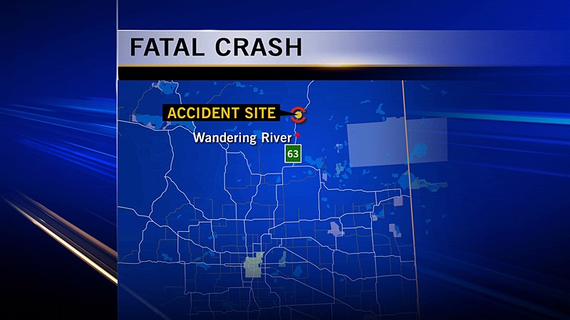 A 68-year-old man is dead after a single-vehicle collision on Highway 63 Saturday morning.