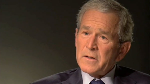 Former U.S. President George W. Bush speaks with interviewer Matt Lauer of NBC News about his new book 'Decision Points.'
