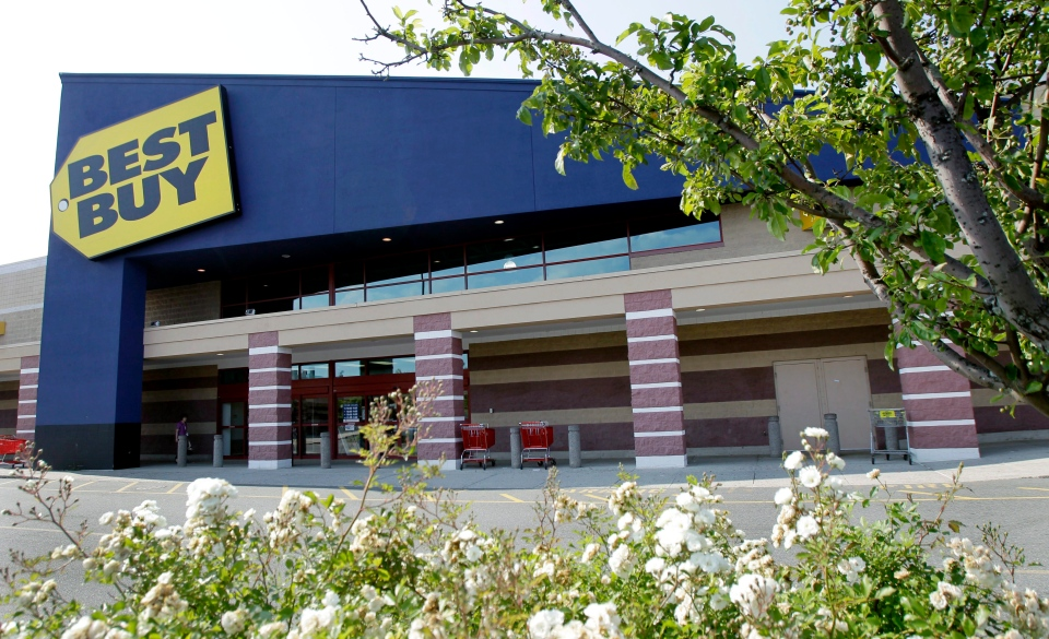 Two Best Buy stores have closed in Quebec, Thursday, Jan. 31, 2013.  (AP / Elise Amendola)