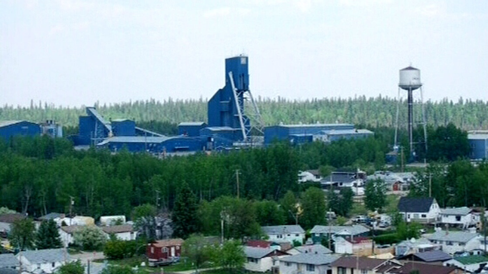 The town of Snow Lake, Manitoba.