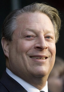 Climate change crusader Al Gore speaks briefly with the media as he arrives at a speaking event in Toronto Wednesday, Feb.21, 2007. (CP / Adrian Wyld)