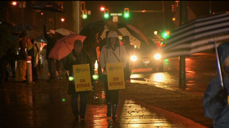 Classes were cancelled Monday at Vancouver Community College and the B.C. Institute of Technology due to job action. Nov. 19, 2012. (CTV)