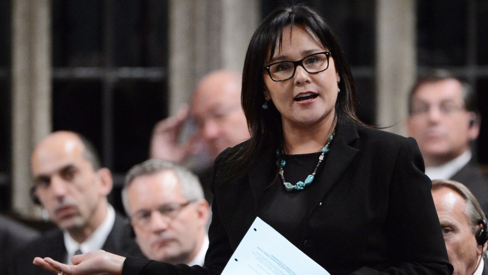 Minister of Health Leona Aglukkaq answers a question during Question Period in the House of Commons on Parliament Hill in Ottawa on Thursday, Oct. 25, 2012. (Sean Kilpatrick / THE CANADIAN PRESS)