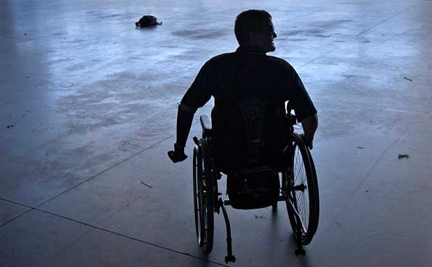 A man is seen in a wheelchair in this file photo (AP Photo/David Goldman)