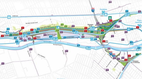 An interactive map is available by clicking the link at the bottom of this article (courtesy: Transport Quebec)