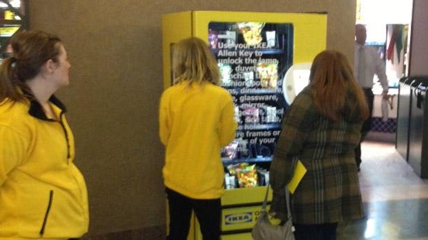 IKEA vending machine in Winnipeg