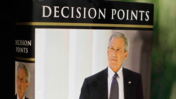 President George W. Bush's new book 'Decision Points' is photographed in Washington, Monday, Nov. 8, 2010. (AP / J. David Ake)