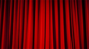 Curtains closed in this undated theatre file photo