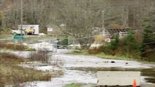 N.S. officials said they are closely watching the water levels at a Yarmouth County dam on the Tusket River on Tuesday, Nov. 9, 2010.