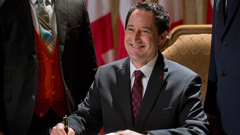 Michael Applebaum smiles during a ceremony in Montreal, Monday Nov. 19, 2012. (Graham Hughes / THE CANADIAN PRESS)