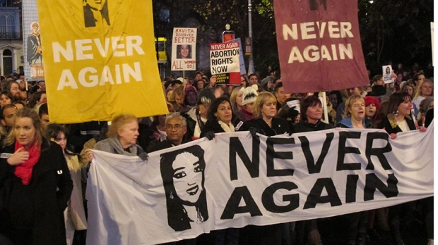 Abortion protest Ireland
