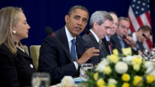 Clinton, Obama mideast conflict