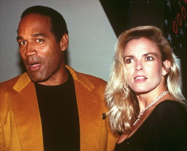 O.J. Simpson and his wife, Nicole Brown Simpson