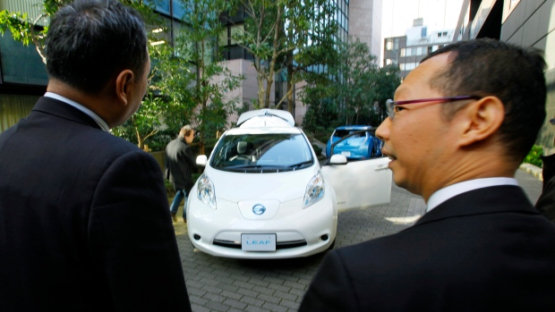 Nissan Motor Co. LEAF electric car