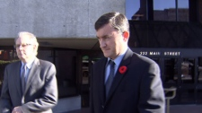 Vancouver Police Sgt. Darcy Taylor leaves Vancouver provincial court. Nov. 10, 2010. (CTV)