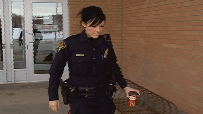 Saskatoon police Const. Christine Talloden testified Monday that she feared for the safety of her partner.