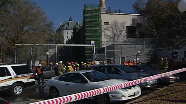 A boiler explosion on Ottawa's Fleet Street left one man dead and three workers injured Monday, Oct. 19, 2009.