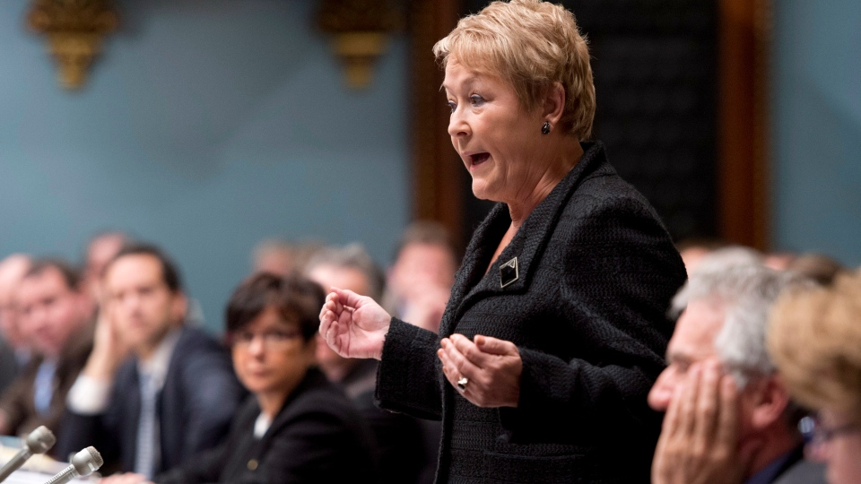 Quebec Premier Pauline Marois responds to Opposition questions at the legislature in Quebec City on Tuesday, Nov. 20, 2012 . (Jacques Boissinot / THE CANADIAN PRESS)