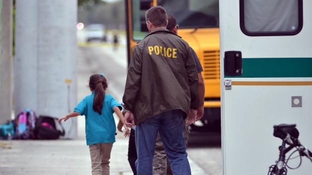 Florida girl shot on school bus
